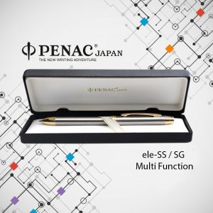 PENAC MULTI-FUNCTION PEN WITH STAINLESS STEEL BODY